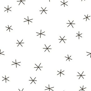 Abstract geometric  design stars and snowflakes