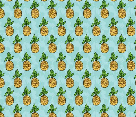 Pineapple Splash - Small fabric by electrogiraffe on Spoonflower - custom fabric