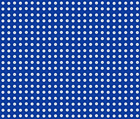 Polish Pottery - Blue Dot fabric by nearanddeer on Spoonflower - custom fabric