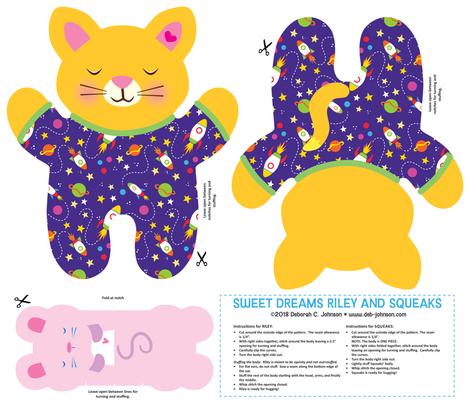 Sweet Dreams Riley FQ fabric by debjohnsondesign on Spoonflower - custom fabric