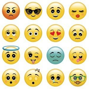 Cute Emojis - Smiley, Eye Roll, Winking Emoticons