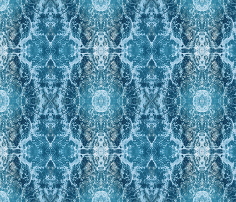 waves - cyan fabric by nancy_sullins on Spoonflower - custom fabric