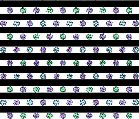 Geo Flower Stripe Pastel fabric by raline on Spoonflower - custom fabric