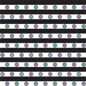 Geo Flower Stripe Pastel
