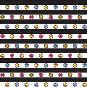 Geo Flower Stripe Bright