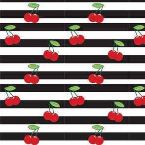 Cherry Stripe Black