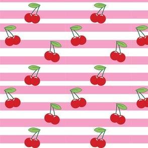 Cherry Stripe Pink