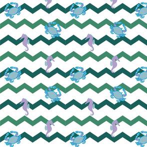 Ocean Chevron Green