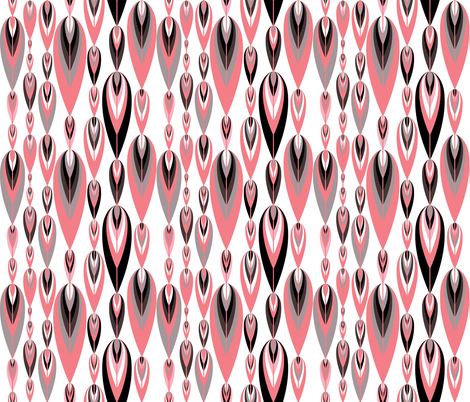 Birds of a Feather Pink Tuxedo 1 fabric by alchemiedesign on Spoonflower - custom fabric