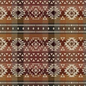 linen theme with kilim
