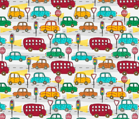 Morning Commute fabric by the_simple_surface on Spoonflower - custom fabric