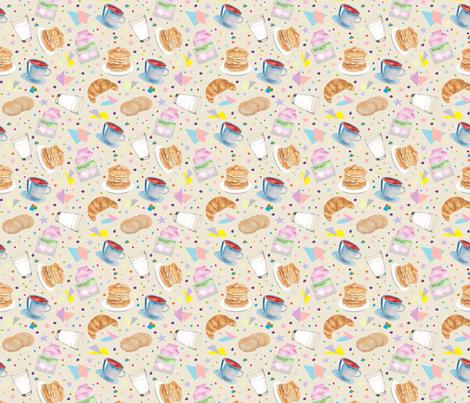 breakfast pattern fabric by pixiesandlynn on Spoonflower - custom fabric