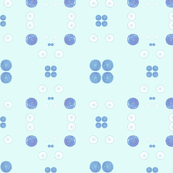 Blue and white dots