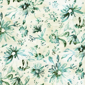 Lovely floral muted green