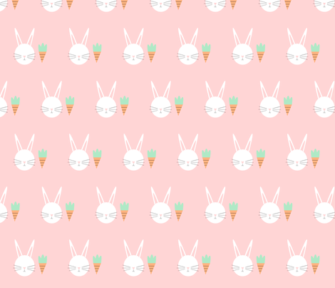 Bunny fabric by leigha_marie on Spoonflower - custom fabric