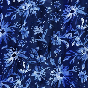 Lovely floral navyblue