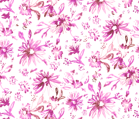 Lovely floral pink fabric by schatzibrown on Spoonflower - custom fabric