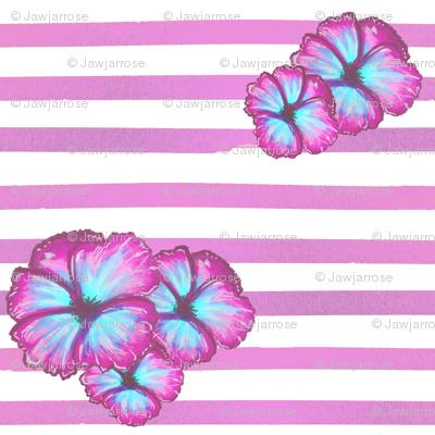 Purple Tropical Flowers