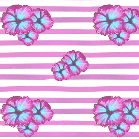 Purple Tropical Flowers fabric by jawjarrose on Spoonflower - custom fabric