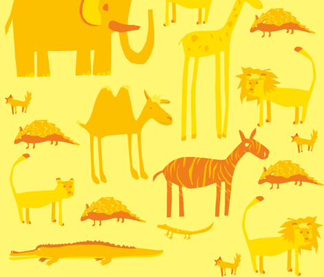 Team orange fabric by catfromoutaspace on Spoonflower - custom fabric