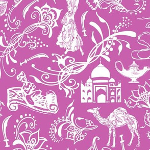 Arabian Nights on Fuchsia // Large-Size