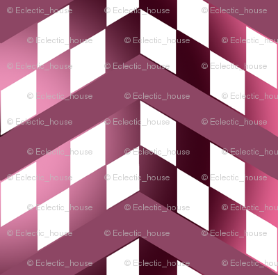Pink Gradient Checkerboard Chevrons