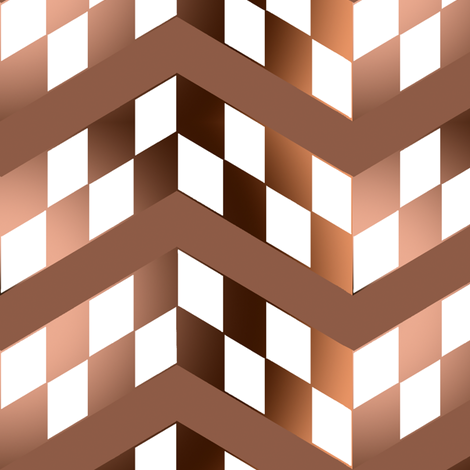 Brown Gradient Checkerboard Chevrons fabric by eclectic_house on Spoonflower - custom fabric