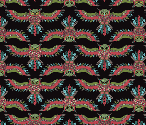 Owl in Flight Volume 1  fabric by erinfoggoa on Spoonflower - custom fabric