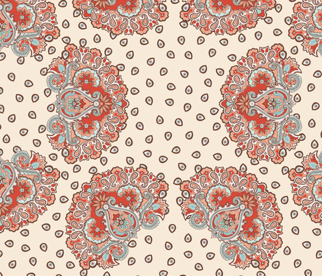 Annika Paisley Pacific fabric by bear_bell on Spoonflower - custom fabric