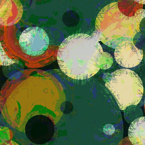 Modern Retro: Green Scribble Bouncy Balls