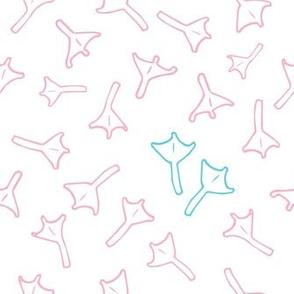 Girl pattern. Duck footprint. Chicken footprints. Swaddling pattern. Bird tracks. Kids Pyjamas.  Baby Clothes. Lovely swaddling. Chicken feet.  Charming girlish swaddle.