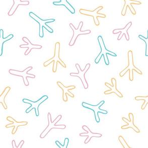Swaddling fabric. Bird tracks. Kids Pyjamas. Baby Clothes. Duck footprint. Chicken feet. Lovely swaddling textile. Amazing Swaddle.