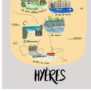 Carte Hyeres