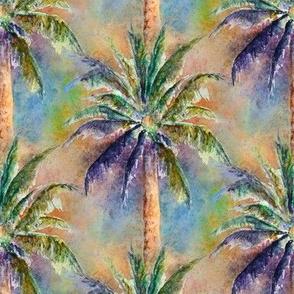 WATERCOLOR PALM TREE 2 NATURAL