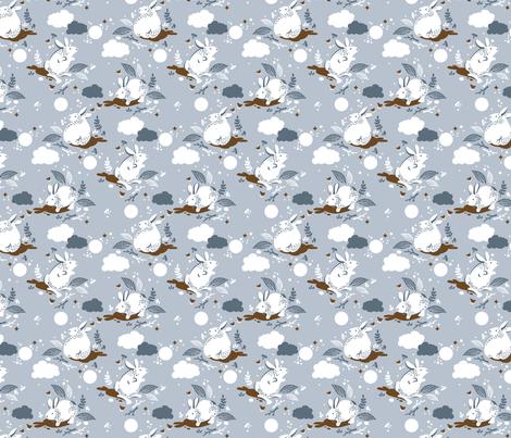pixelguiden bunny pattern fabric by pixelguiden on Spoonflower - custom fabric