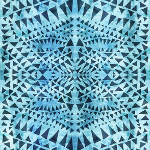 triangle tribal aqua