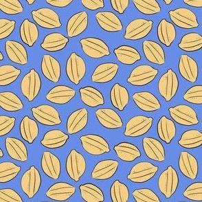 Lemon Drop on blue