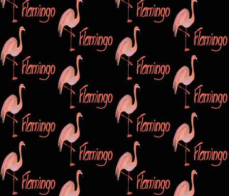 Flamingo fabric by cathiedesigns on Spoonflower - custom fabric