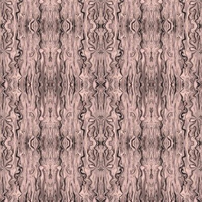 BFM19 - Charcoal on Rustic Pink Pastel Butterfly Marble Brocade
