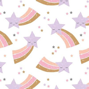 Kawaii magic rainbow love sweet dreams shooting stars make a wish pink lilac pastels girls