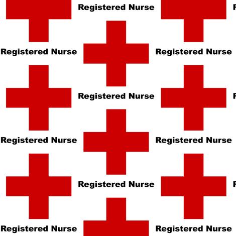 Registered Nurse fabric by nurseinsomniac on Spoonflower - custom fabric