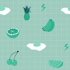 Monochrome Fruit (green)