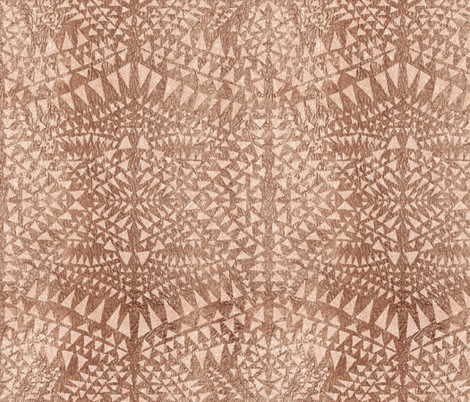 triangle tribal copper fabric by schatzibrown on Spoonflower - custom fabric