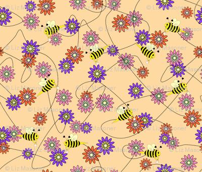 Bee with Honey Buckets