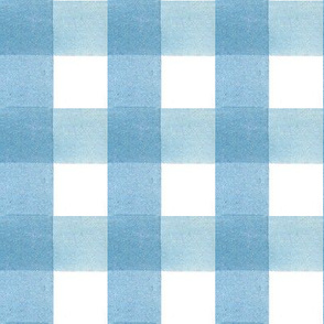 "Watercolor Blue Gingham - 1.5"" Scale"