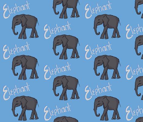 Elephant fabric by cathiedesigns on Spoonflower - custom fabric