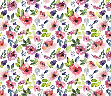 SummerFloral fabric by northeighty on Spoonflower - custom fabric