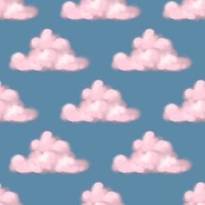 Cotton candy pink clouds