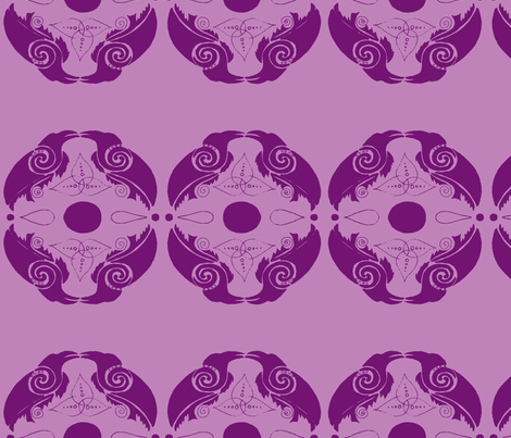 ravens2-lilac and grape fabric by live&cre8 on Spoonflower - custom fabric