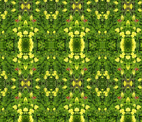 Sour Grass Monster fabric by uberdesigns on Spoonflower - custom fabric